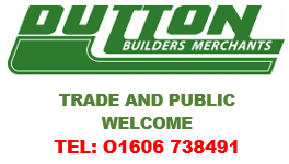 Dutton Builders Merchants - Tel 01606 738491