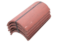 Roof Segmental Ridge Smooth Red - Dutton Builders Merchants Ltd Product image