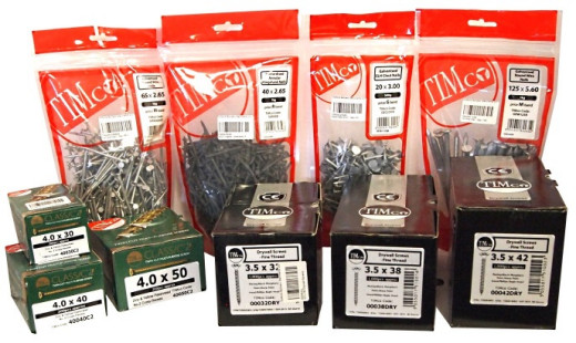We stock Timco screws nails